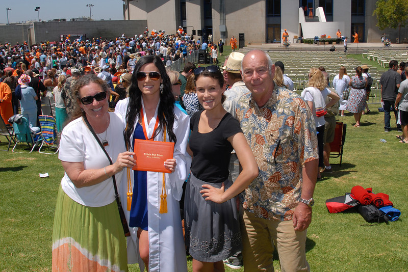 Proud family at graduation.