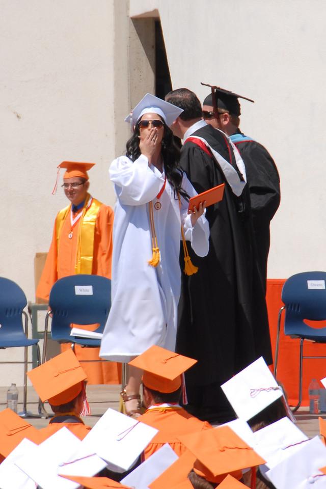 Lily at graduation.
