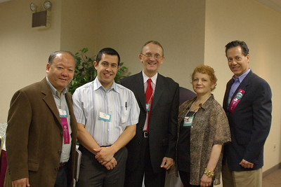 From left to right: Andy Mau, Robert Cain, Paul Thompson, Bertha Ditillo and Guy Marro.