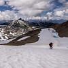 Navigating Gentian Ridge Above Black Tusk