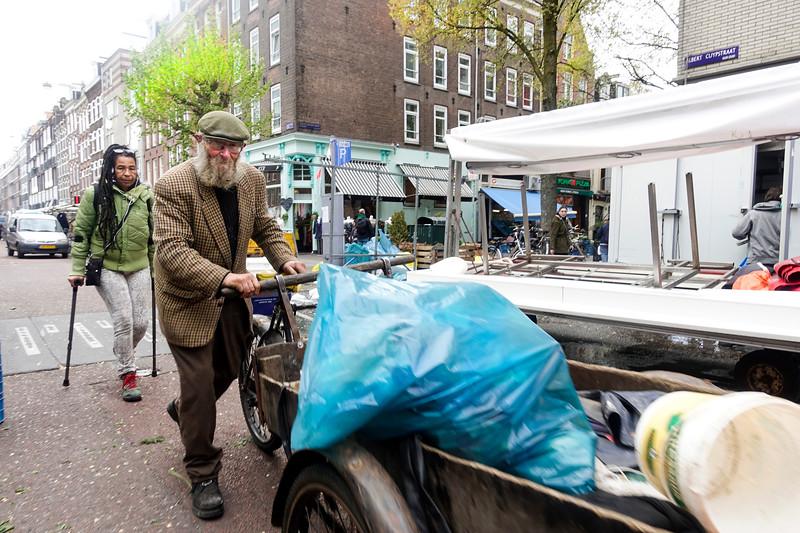 Nederland, Amsterdam, Albert Cuypmarkt, 9 mei 2017, foto: Katrien Mulder