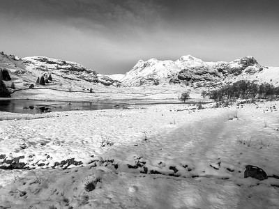 16th January 2016, beautiful Blea Tarn, one of the Lake District's innumerable small tarns