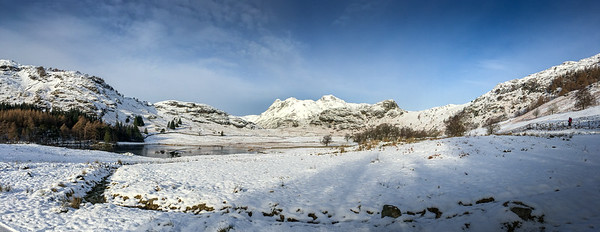16th January 2016 The Langdales and the beautiful Blea Tarn, one of the Lake District's innumerable small tarns