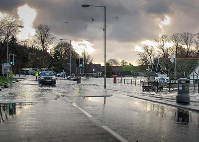 20th Nov-2009, Floods, Bowness-on-Windermere, Cumbria,