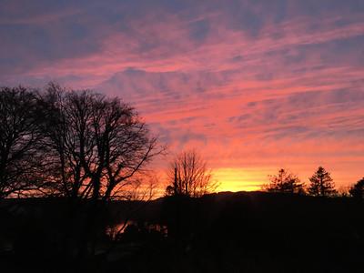 18th February 2016 Sky over Lake Windermere, Cumbria