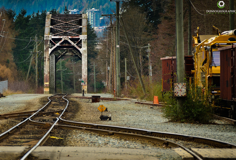 A train bridge from north Vancouver to west Vancouver