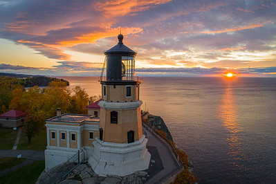 Placid Sunrise at Split Rock Lighthouse