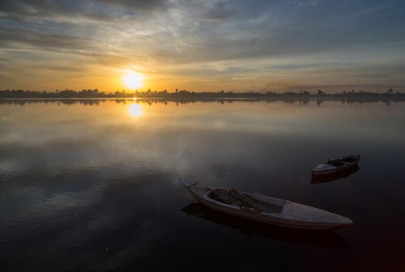 11 de Febrero de 2015 - Amanecer en el Nilo. Kom Ombo. Egipto