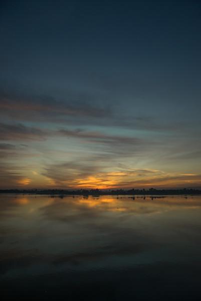 20 de Febrero de 2015 - Las tranquilas aguas del Nilo. Edfu. Egipto