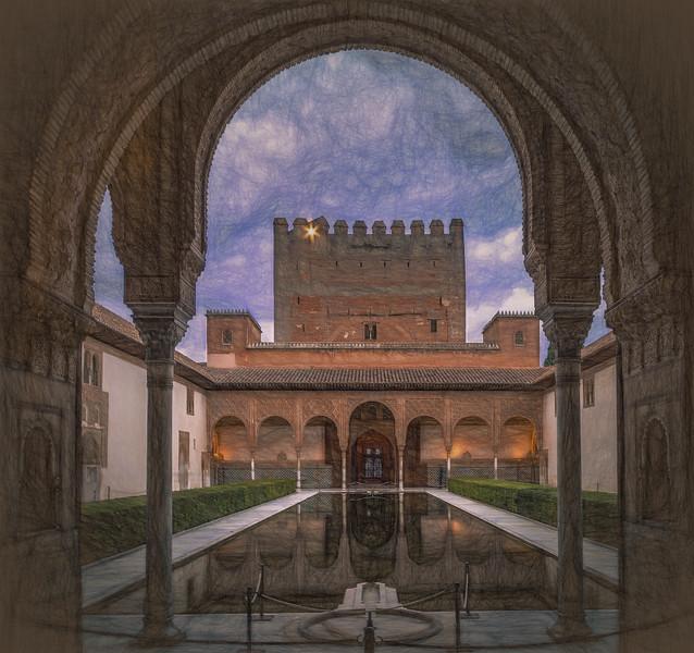 13 de Noviembre de 2014 - El Patio de los arrayanes. La Alhambra.