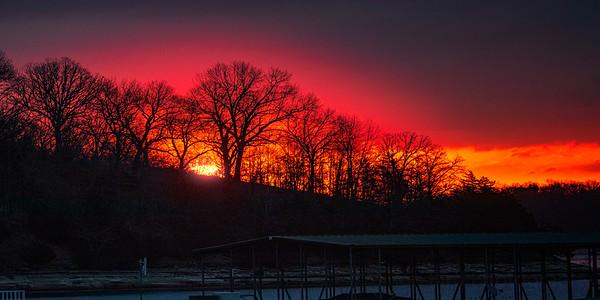 Sunrise over the marina.