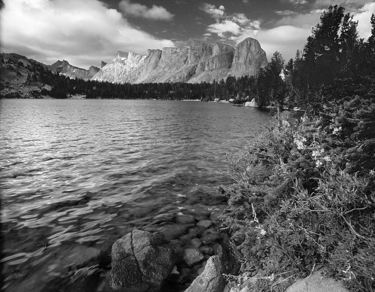 Lake Valentine - Wind River Range B&W