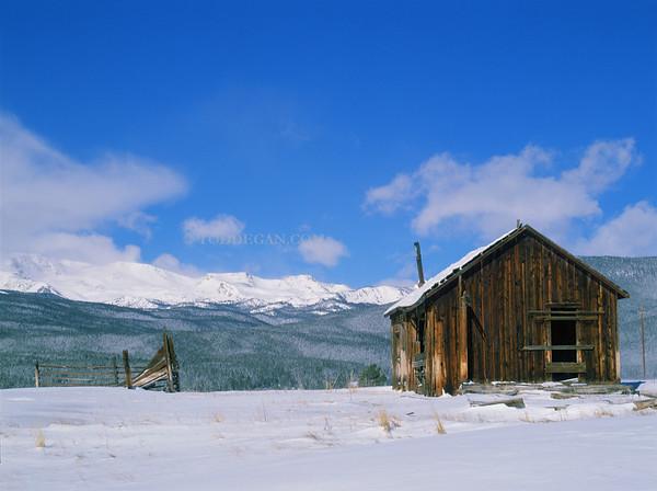 Leadville Barn in winter