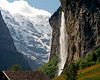 Switzerland Jungfrau waterfall