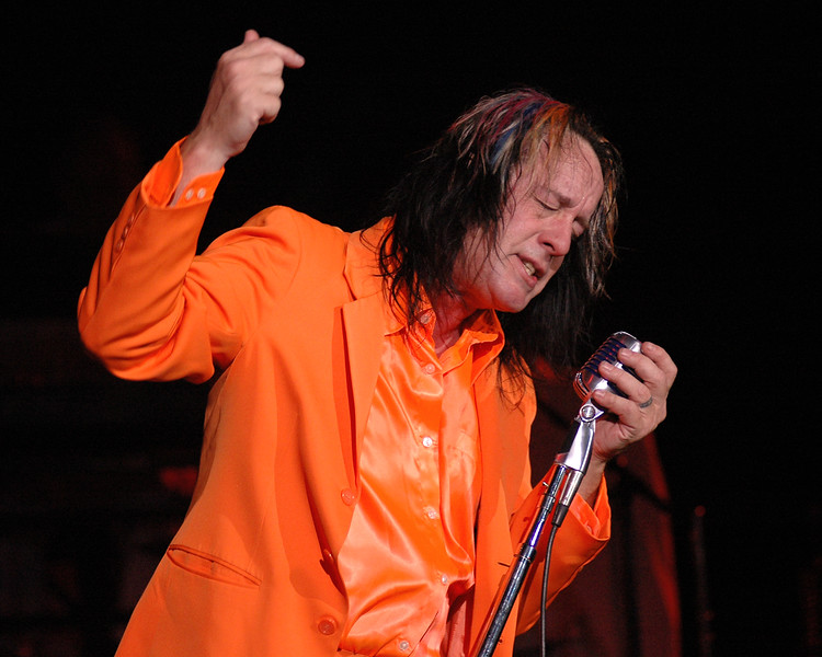 """Todd Rundgren performing his """"A Wizard, A True Star"""" album at the Crest Theater in Sacramento, CA on December 2, 2009."""