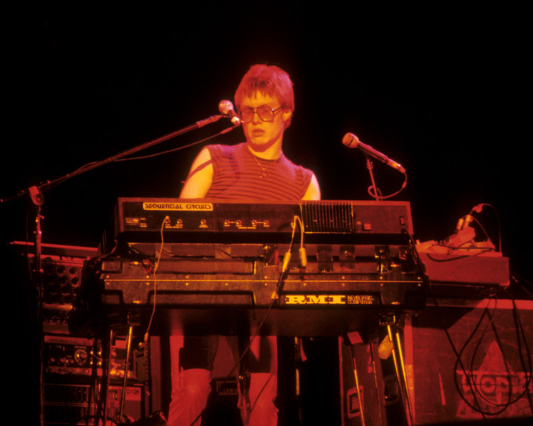 Roger Powell performing with Utopia at the Greek Theater in Berkeley on September 28, 1979.