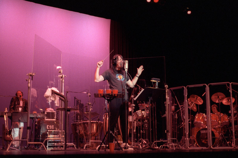 Todd Rundgren, perfoming with Vince Welnick and Prairie Prince at the Palace of Fine Arts on July 7, 1990.