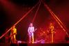 Utopia performing at Winterland Arena on April 2, 1977. (L-R): Roger Powell, Todd Rundgren, Kasim Sulton.