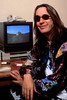 Todd Rundgren at his office in Sausalito, CA in 1992.