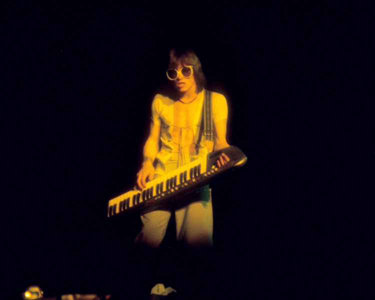 Roger Powell performing with Utopia at Winterland Arena on April 2, 1977.