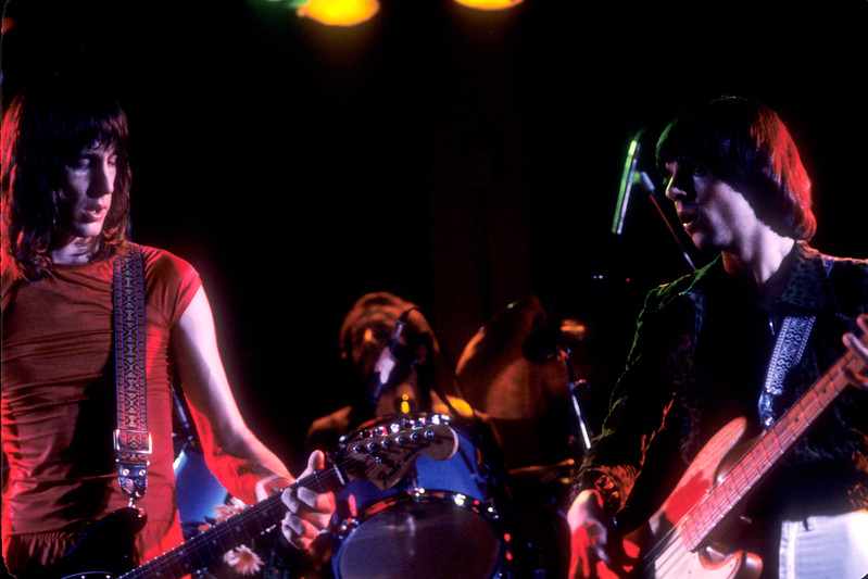 Todd Rundgren, Willie Wilcox and Kasim Sulton performing with Utopia at the Old Waldorf in San Francisco on April 29, 1979.