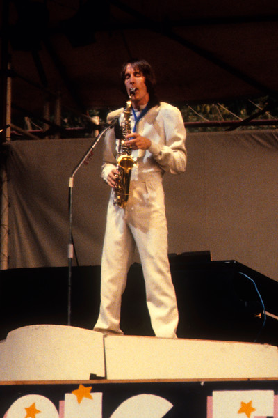 Todd Rundgen performing with Utopia at the Central Park Music Festival in N.Y.C. on August 8, 1980.