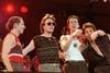 Utopia onstage at Pier 84 in New York City on August 24, 1984. (L-R):Willie Wilcox, Roger Powell, Todd Rundgren, Kasim Sulton.