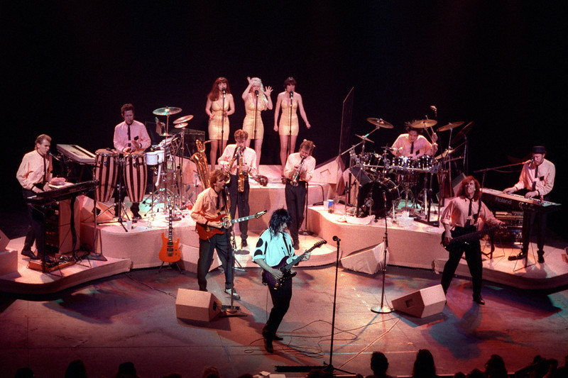 SAN FRANCISCO, CA-MARCH 10: Todd Rundgren and his band performing at the Warfiield Theater in San Francisco on March 10, 1990. (Photo by Clayton Call/Redferns)