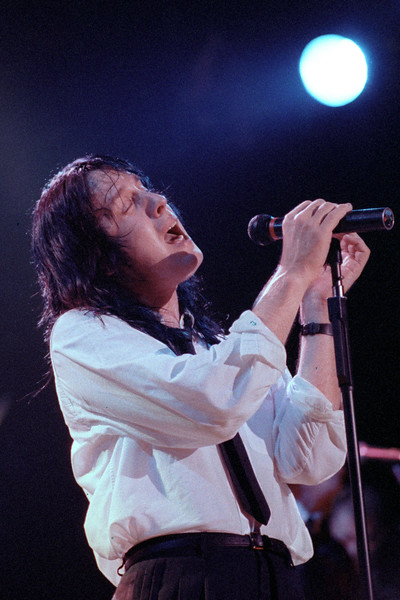Todd Rundgren performing live on stage at the Fillmore Auditorium on July 12, 1989.