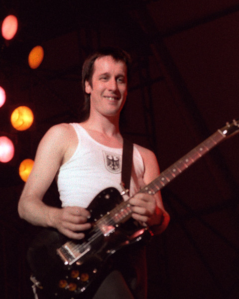 Todd Rundgren performing with Utopia at Pier 84 in New York City on August 24, 1984.