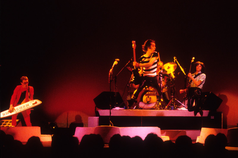 "Utopia performing at the Arlington Theater in Santa Barbara on May 30, 1980, during the ""Adventures in Utopia"" tour."