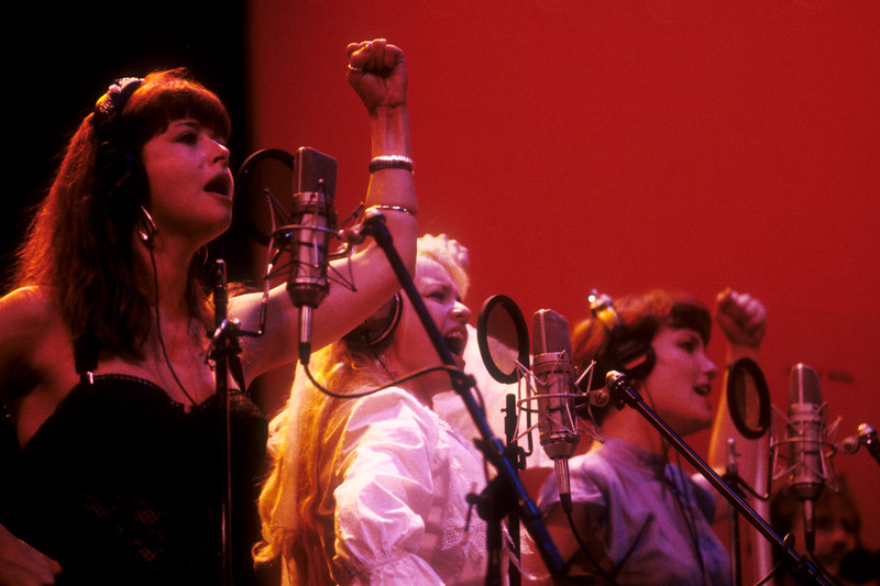 Todd's back-up vocalists during the Second Wind live recording sessions at the Palace of Fine Arts in San Francisco.(L-R): Jenni Muldaur, Michele Gray, Shandi Sinnamon.