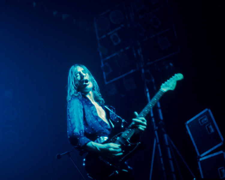 Todd Rundgren perfoming with Utopia at the Beacon Theater in N.Y.C. on December 14, 1975.