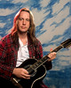 Todd Rundgren posing backstage at the Warfield Theater in San Francisco on January 16, 1993.