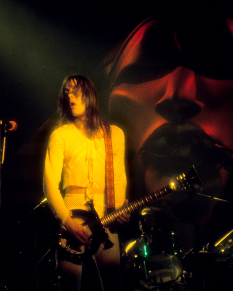 Todd Rundgren performing with Utopia as Maurice looks on at the San Jose Center Center for the Performing Arts  on March 30, 1977.