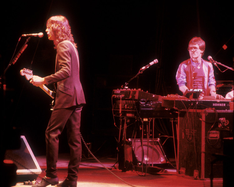 Todd Rundgren and Roger Powell performing with Utopia at the Greek Theater in Berkeley on September 28, 1979.