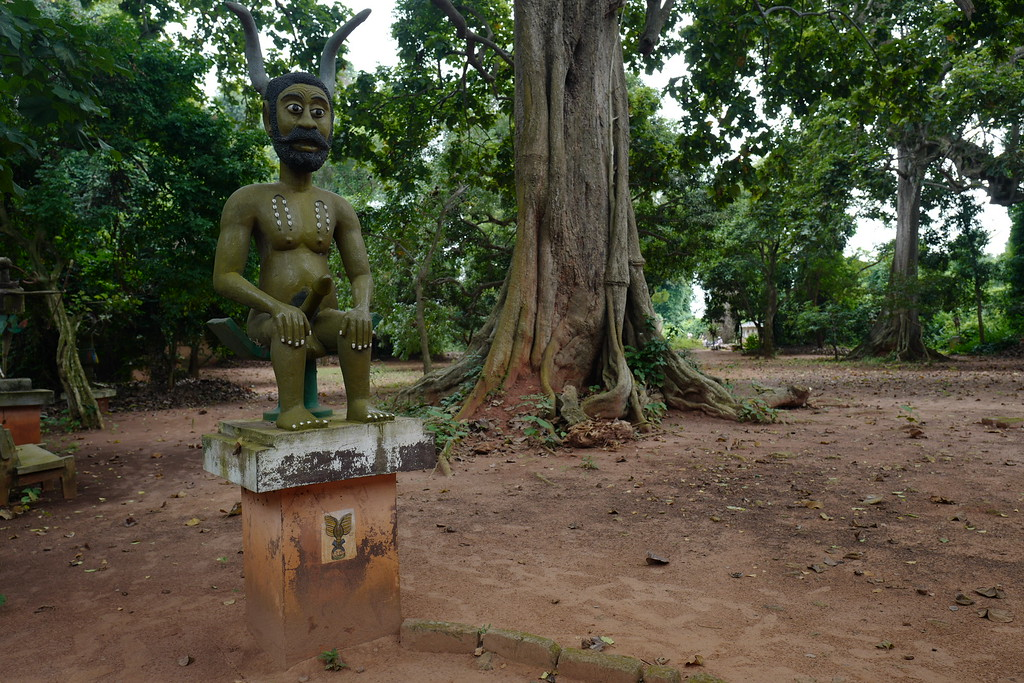 Legba guarding the Holy Wood - Ouidah, Benin