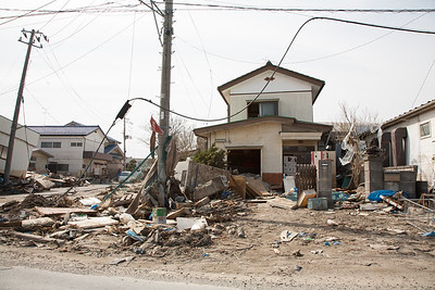 More than half a kilometer from the sea just utter destruction.