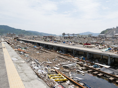 What used to be the railway station of Otsuchi. No trains wills coming here anytime soon.
