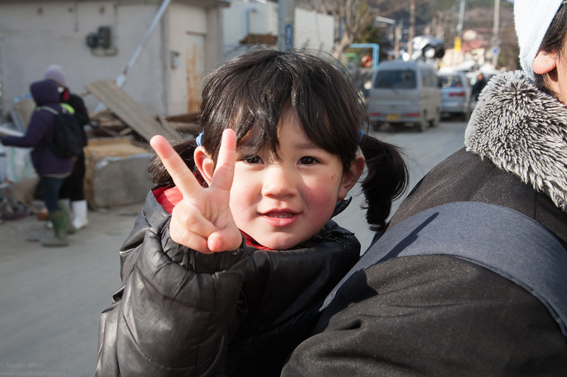 Miho chan giving me the peace sign. Or is it the the Victory sign in spite of all the odds?