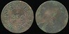 MILITARY -- Indian Territory<br /> Lot 481:  POST CANTEEN / 25¢ / FORT SILL, I.T. (a/i) // (blank), br rd 31mm, scattered pitting, coppery.  Unlisted size OK440.    G2-($750-$1500) -- SOLD $501