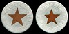 TRANSPORTATION - Iowa<br /> Lot 70:  SIOUX CITY TRACTION CO. / (cu star) / SIOUX CITY, IA. // Good For / (star) / Half Fare, bimetallic al/cu rd 19mm, somewhat worn.  Listed IA 850I $200  MB$150 - Sold $163