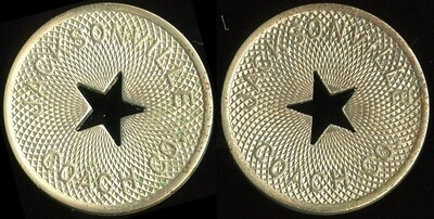 TRANSPORTATION - Florida Lot 32:  JACKSONVILLE / c/o star) / COACH CO. // (same), wm rd 26mm.  Listed FL 380R $100   MB$100