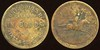 MILITARY -- Indian Territory<br /> Lot 497:  ONE DOLLAR / PAYABLE / IN GOODS / AT / HIATT & CO'S STORE // (Indian carrying spear on horseback), (Osage Agency, IT), br rd 25mm.    G3-($150-$300)