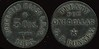TRANSPORTATION - Massachusetts<br /> Lot 75:  WORCESTER HORSE R.R. CO. / 5 CTS. / 1865. // Twenty / For / One Dollar / G.F. Bonney., black vu rd 25mm.  Listed MA 970A $150  MB$150 - Sold $303