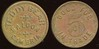 SALOON - California<br /> Lot 12:  TEDDY BEAR / SALOON / CAMBRIA // Good For / 5¢ / In Trade, br rd 21mm.  Listed F-3 EV7, E-4 $70-120.    G3-(EV$125/250)-MB$50  -- SOLD $100