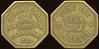 SALOON - California<br /> Lot 24:  ELDORADO SALOON / T. E. MURPHY / PROP. / KLAMATHON, / CAL. // Good For / 10 (on label across: Cents) / In Trade, br oc 25mm.  Listed F-1 EV8, E-1 $120-220.    G4-(EV$175/350)-MB$90 -- SOLD $202