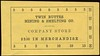 CHITS/TICKETS/CARDS - Arizona<br /> Lot 425:  TWIN BUTTES / MINING & SMELTING CO. / COMPANY STORE / $2.50 IN MERCHANDISE,  Black imprint/yellow paper re 120x63mm.    G5-(EV$16/32)-MB$10 - SOLD $15