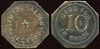 SALOON - California<br /> Lot 21:  OLYMPUS SALOON / JACKSON // Good For / 10¢ / In Trade, br oc 26mm.  Listed F-14 EV6, E-15 $40-70.    G3-(EV$75/150)-MB$35  - DNS