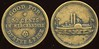 MILITARY - Dakota Territory<br /> Lot 379:  GOOD FOR / 50 CENTS / IN MERCHANDISE / DURFEE & PECK // (steamship), (Ft. Union), br rd 24mm.   G3-(EV$250/500)-MB$150 - SOLD $260
